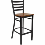 metal ladder back bar stool