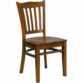 wood vertical back chair