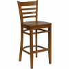 wood ladder back barstool