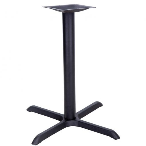 22 inch by 22 inch black table base