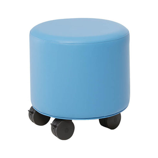 Small Round Ottoman with Casters