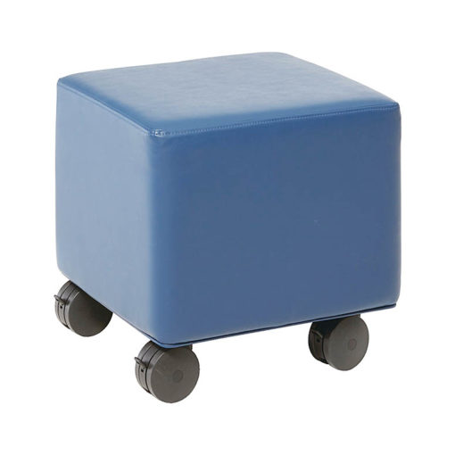 Square Ottoman with Locking Caster Wheels