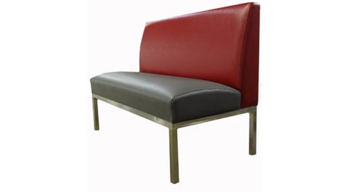 Red and Gray Booth Seating with Metal Frame