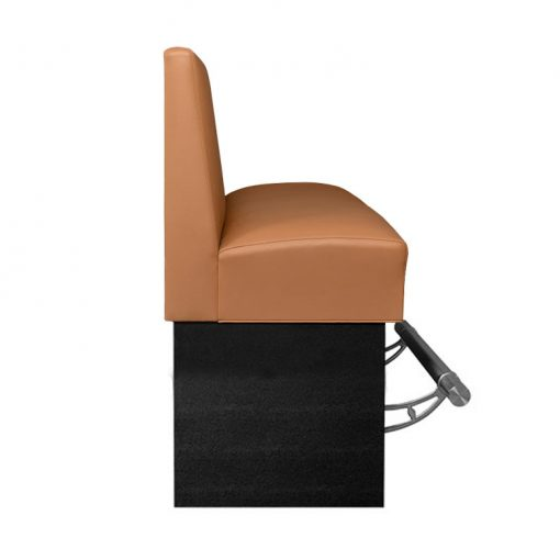 Bar Height Booth Upholstered with Foot Rail