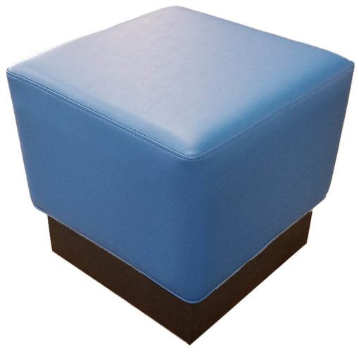 Upholstered Ottoman with Square Base