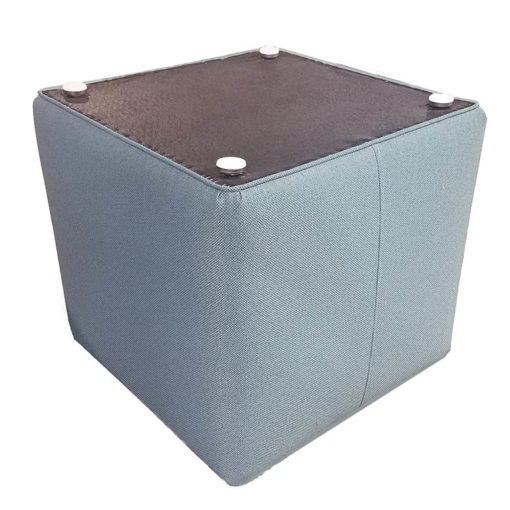 Square Upholstered Ottoman with Glides