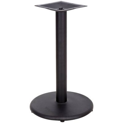 18 inch table base round with black powder coating