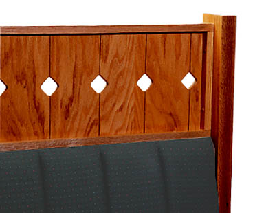 Wood Booth Divider