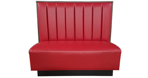 SIMS Superior Seating Single booth channel back