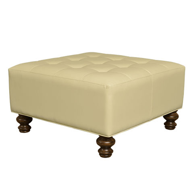 Button Tufted Square Ottoman