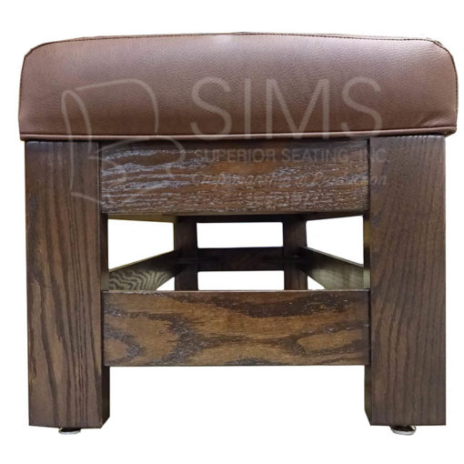 Waiting Bench Upholstered with Finished Wood